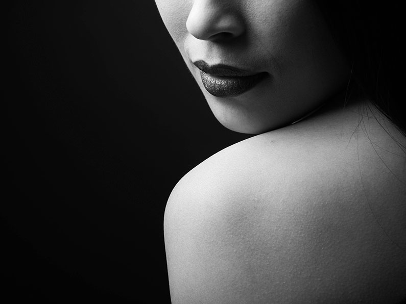 Studio portret – minimalistisch